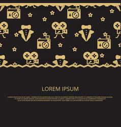 cinema party movie award banner design vector image vector image