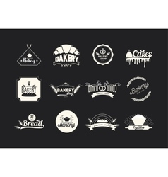 et of bakery logos badges and emblems Food vector image vector image