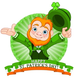 Leprechaun Greeting vector image