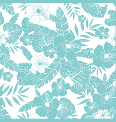 Light blue drawing tropical summer hawaiian vector