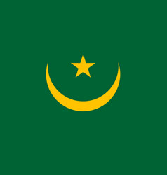 mauritania country flat style flag vector image vector image