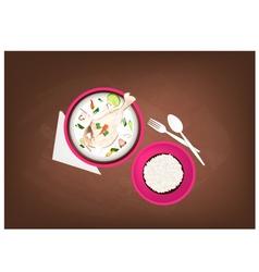Tom Kha Gai or Thai Chicken Cream Soup vector image vector image