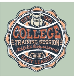 Bulldog college athletic department vector image vector image