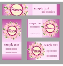 Cards with floral disign for your business needs vector image vector image