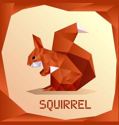 origami orange squirrel vector image