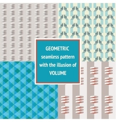 Set geometric seamless texture vector image vector image