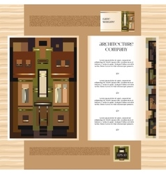 Template jof design broshure with historic mansion vector