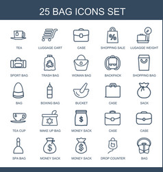 25 bag icons vector