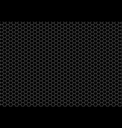 abstract black hexagon mesh background vector image
