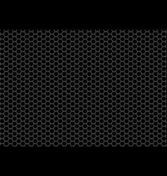 abstract black hexagon mesh background vector image