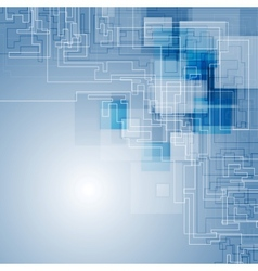 Abstract blue hi-tech background vector
