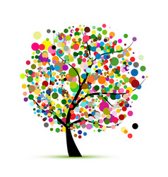 Abstract colorful tree for your design vector