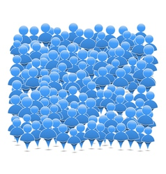 Abstract crowd of people vector image