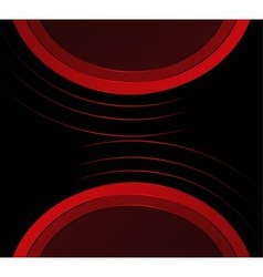 Abstract red black background vector