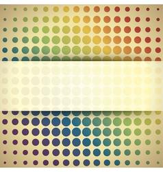 Abstract retro circles vector image