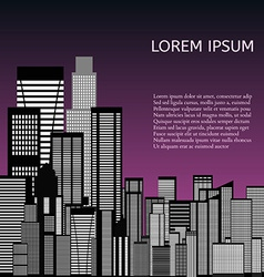 Abstract Skyline City vector image vector image