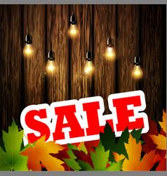Advertisement about autumn sale vector