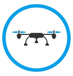 Air copter rounded icon vector