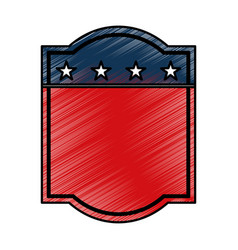 american emblem isolated icon vector image