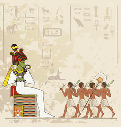 Ancient egypt banner vector