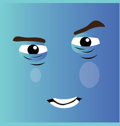 Angry cartoon face vector