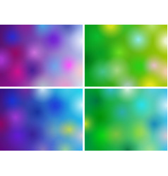 background luminous set vector image