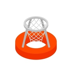 Basket on water 3d isometric icon vector image