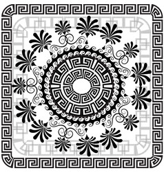 beautiful greek panel pattern black and vector image