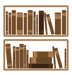 Books on shelf vector