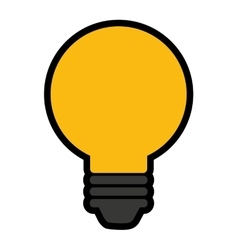 bulb isolated icon design vector image