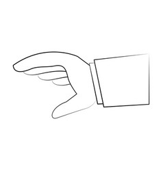 business hand with palm open vector image