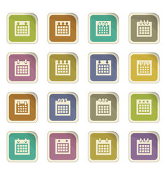 Calendar icons set vector