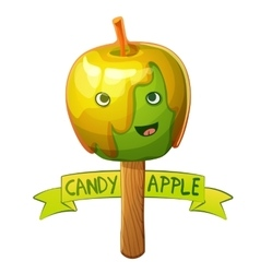 Candy apple character cartoon vector