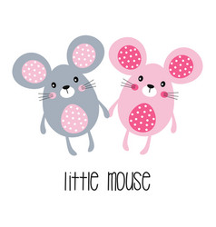 card with little mouse vector image