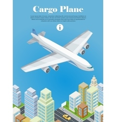 Cargo Plane Isometric Projection Banner vector