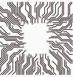 Circuit board black and white vector