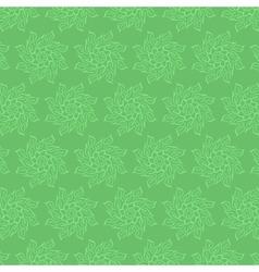 Circular floral pattern in shades green vector