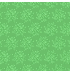 Circular floral pattern in shades of green vector