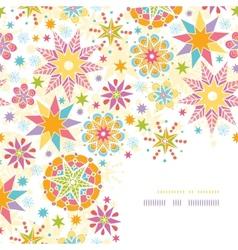 Colorful christmas stars corner decor pattern vector