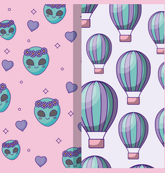 Colorful patterns design vector