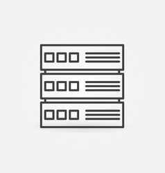 computer server outline concept icon vector image