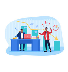 Conflict in workplace with two colleagues vector