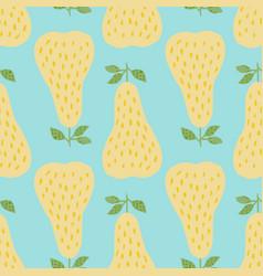 creative geometric yellow pears seamless pattern vector image