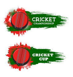 Cricket championship cup sport game club banner vector