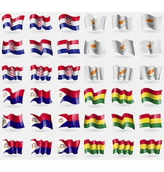 Crotia cyprus saint martin bolivia set of 36 flags vector