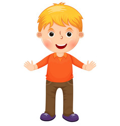 cute cartoon little boy character vector image