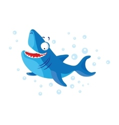 Cute shark isolated T-Shirt design for children vector