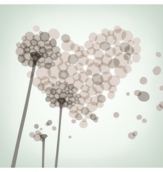 Dandelion love vector