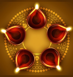 Diwali diya background vector