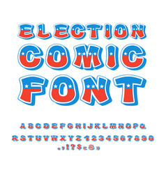 election comic font political debate in america vector image